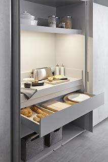 espacios para accesorios de cocina