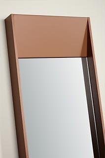 espejo ingletado con marco marron