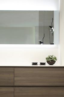 espejo con luz accesorio para el bano