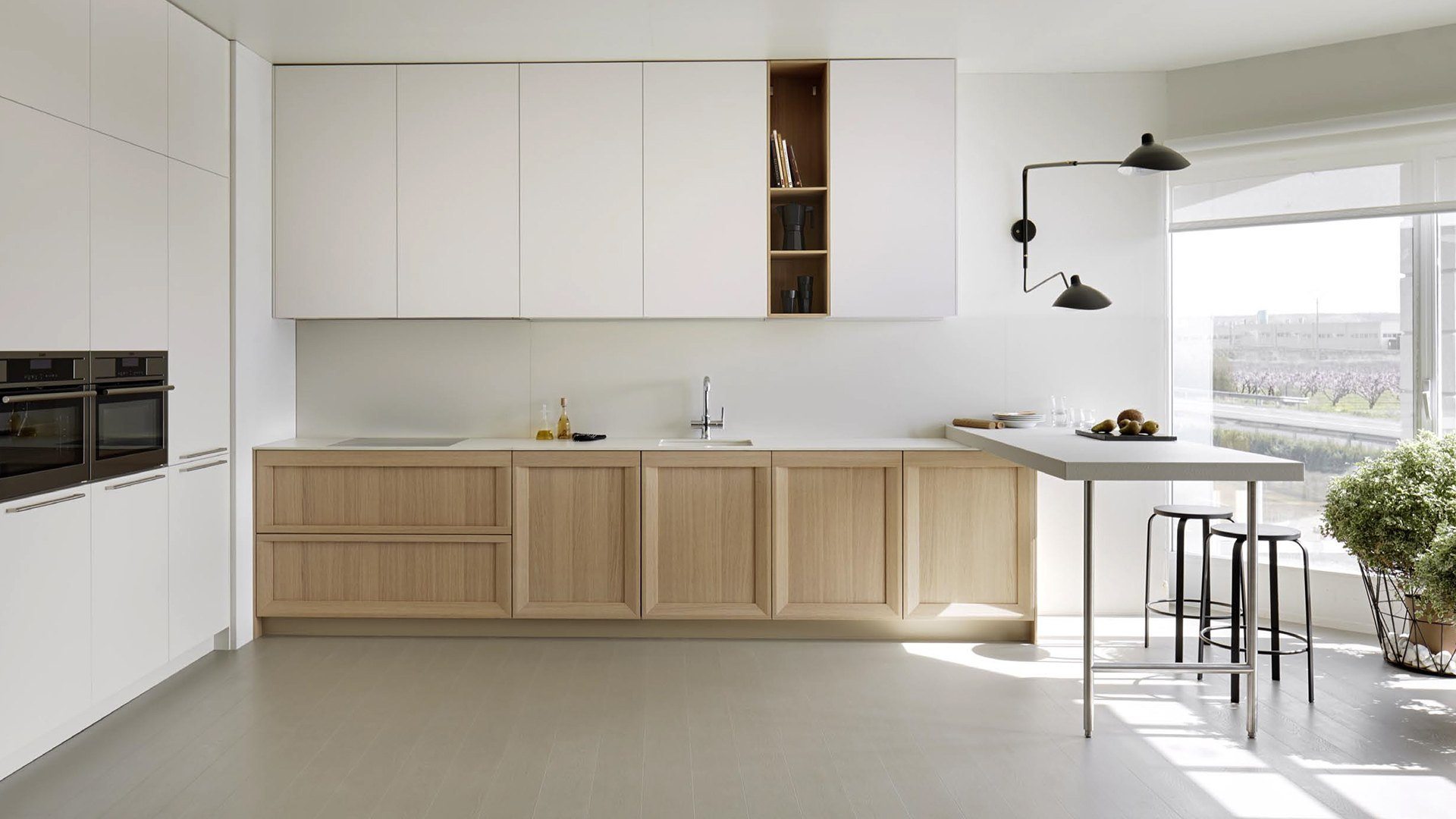 Soho roble natur blanco roto graden for Cocinas modernas color madera