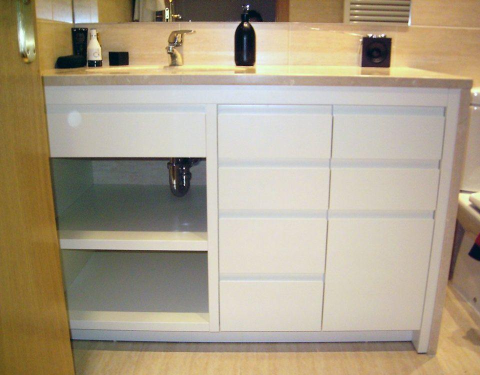 mueble de bano lacado