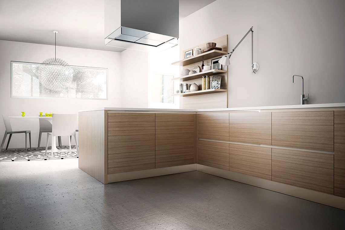 Aqua cocina moderna en madrid graden - Tiradores de cocina modernos ...