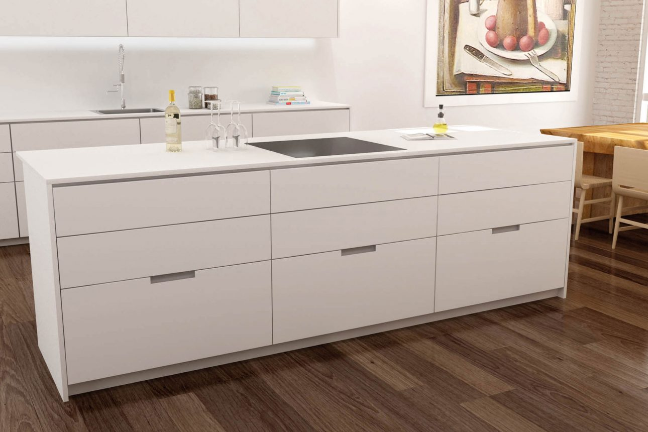 mueble de cocina con tirador