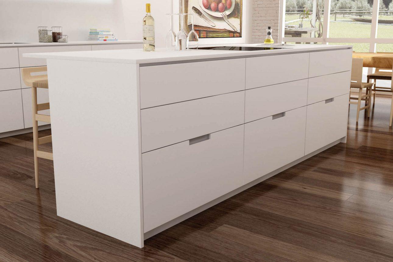 Tiradores para muebles de cocina fabulous perfil de for Tiradores originales para muebles