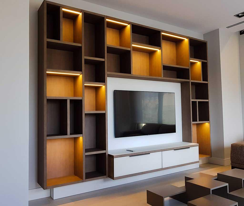 Librería diseño para salón